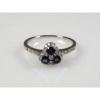 Prsten se safíry a diamanty